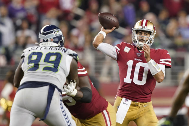 49ers-Seahawks was among seven NFL games to have a time or channel change for Week 17. (AP Photo/Tony Avelar)