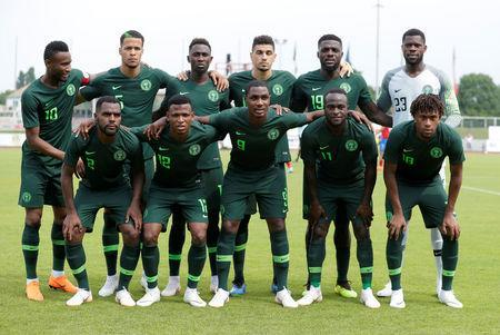 Soccer Football - International Friendly - Czech Republic vs Nigeria - Rudolf-Tonn-Stadion, Schwechat, Austria - June 6, 2018 Nigeria team group REUTERS/Heinz-Peter Bader