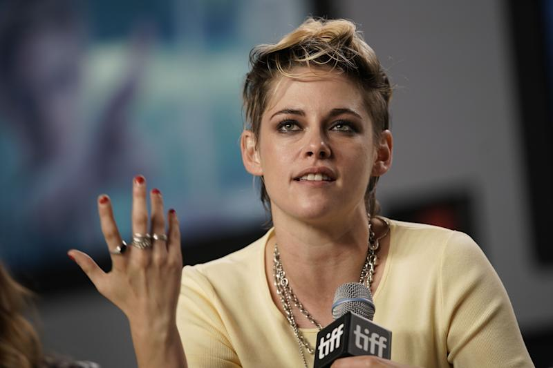 Actress Kristen Stewart speaks during a press conference for 'Seberg' at the Toronto International Film Festival in Toronto, Ontario on September 8, 2019. (Photo by Geoff Robins / AFP) (Photo credit should read GEOFF ROBINS/AFP/Getty Images)