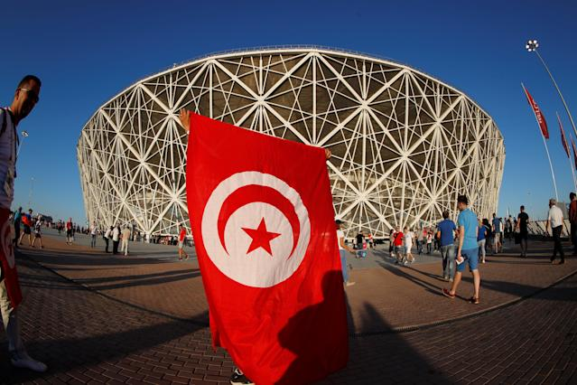 The big moment is close: Tunisia fans arrived at the stadium