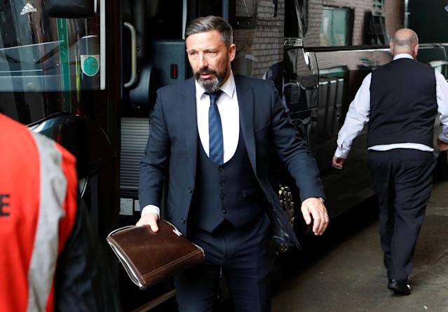 Soccer Football - Scottish Premiership - Celtic vs Aberdeen - Celtic Park, Glasgow, Britain - May 13, 2018 Aberdeen manager Derek McInnes arrives before the match REUTERS/Russell Cheyne