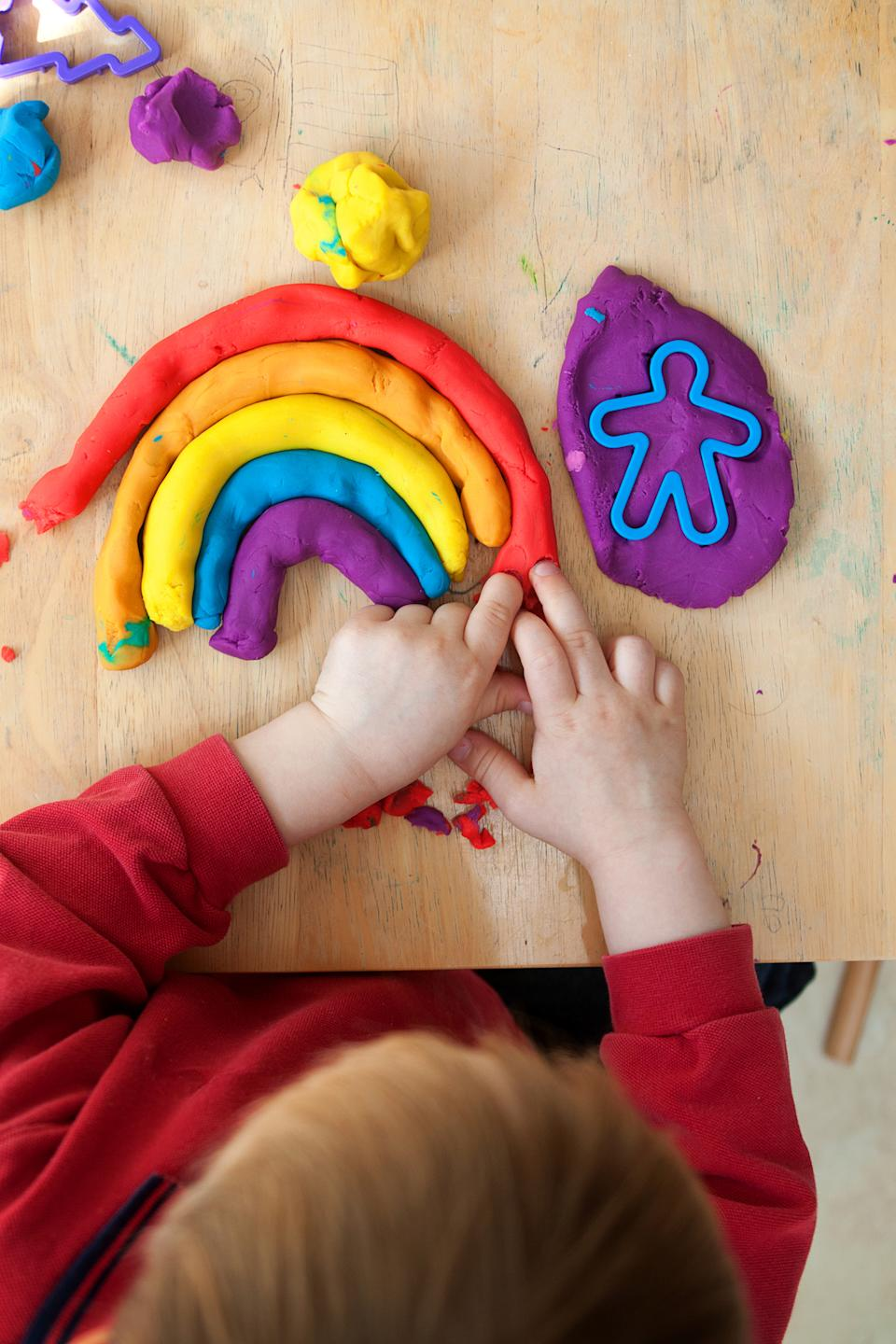 Make your own playdough with store cupboard ingredients. (Getty Images)
