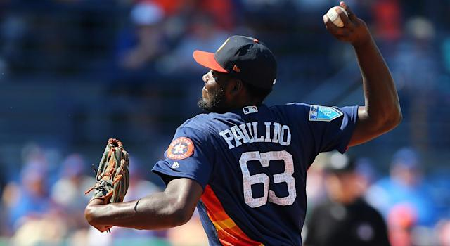 David Paulino has already played at the major-league level. (Rich Schultz/Getty Images)