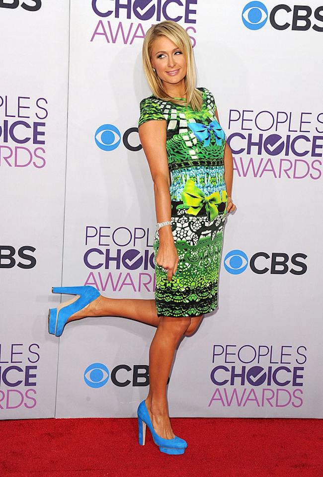 Paris Hilton attends the 2013 People's Choice Awards at Nokia Theatre L.A. Live on January 9, 2013 in Los Angeles, California.