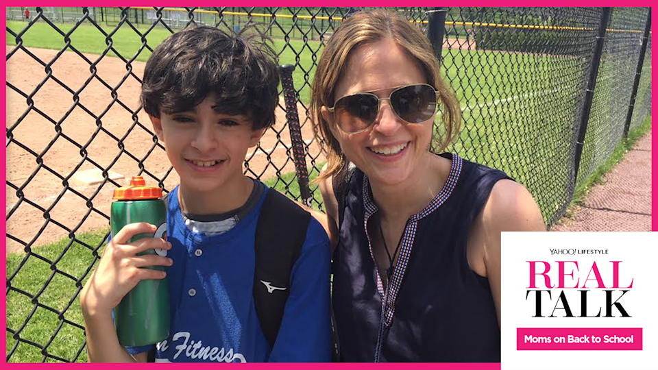 Mom Lisa Lombardi with her son Gus, who has a food allergy. (Photo courtesy of Lisa Lombardi)