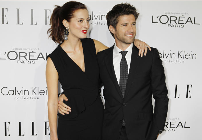 Martino (with husband Kyle Martino in 2012) has acted in productions like <em>Californication</em> and <em>Saved!</em>. (Photo: REUTERS/Fred Prouser)