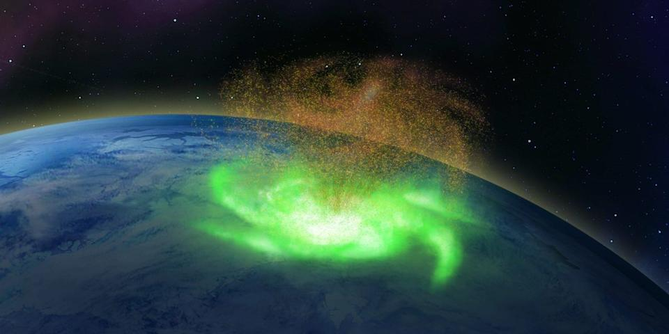 An illustration of what the space hurricane might have looked like. (Photo: Qing-He Zhang, Shandong University)