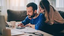 """<p>These are the tax rates you'll face in 2021 as a married couple filing together.</p> <ul> <li>37% for incomes over $628,300</li> <li>35% for incomes over $418,850</li> <li>32% for incomes over $329,850</li> <li>24% for incomes over $172,750</li> <li>22% for incomes over $81,050</li> <li>12% for incomes over $19,900</li> <li>10% for incomes of $19,900 or less</li> </ul> <p><em><strong>Here They Are: <a href=""""https://www.gobankingrates.com/taxes/filing/most-expensive-states-to-file-taxes/?utm_campaign=1035638&utm_source=yahoo.com&utm_content=22"""" rel=""""nofollow noopener"""" target=""""_blank"""" data-ylk=""""slk:The Top 10 Most Expensive States To File Taxes"""" class=""""link rapid-noclick-resp"""">The Top 10 Most Expensive States To File Taxes</a></strong></em></p> <p><small>Image Credits: AleksandarNakic / Getty Images</small></p>"""