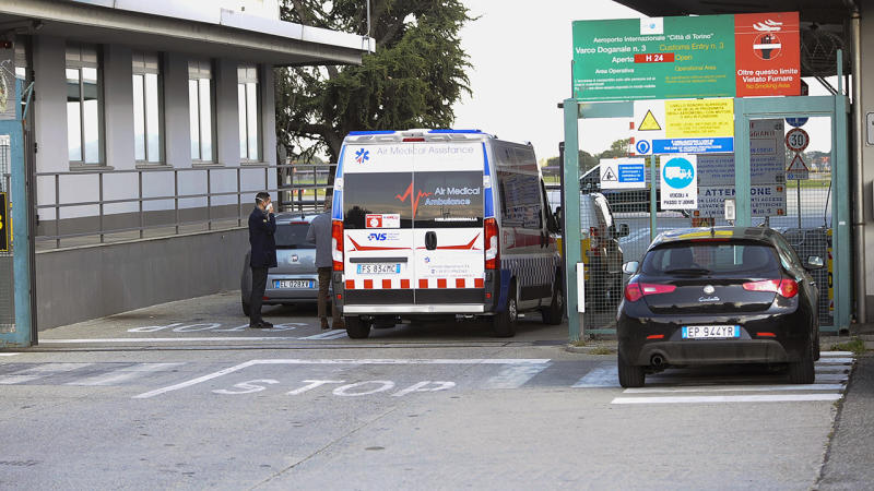 Cristiano Ronaldo, pictured here at Caselle's Airport in Turin.