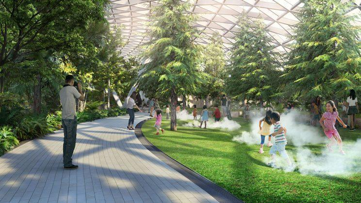 Foggy Bowls play attraction. (Photo: Jewel Changi Airport Devt.)
