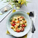 """<p>As these speedy gnocchi are made without egg, don't be tempted to make them ahead of time as they'll fall apart on cooking.</p><p><strong>Recipe: <a href=""""https://www.goodhousekeeping.com/uk/food/recipes/a27123906/tomato-gnocchi/"""" rel=""""nofollow noopener"""" target=""""_blank"""" data-ylk=""""slk:Gnocchi with Cherry Tomato Sauce"""" class=""""link rapid-noclick-resp"""">Gnocchi with Cherry Tomato Sauce </a></strong></p>"""