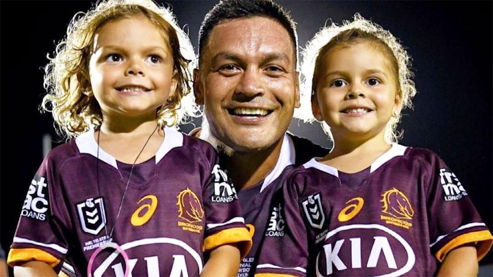 Pictured here, Alex Glenn poses for a photo with two of his children.