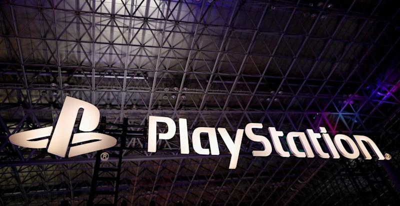 The logo of Sony PlayStation is displayed at Tokyo Game Show
