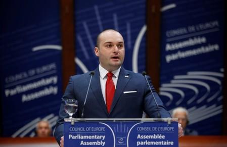 FILE PHOTO: Georgian Prime Minister Bakhtadze addresses the Parliamentary Assembly of the Council of Europe in Strasbourg