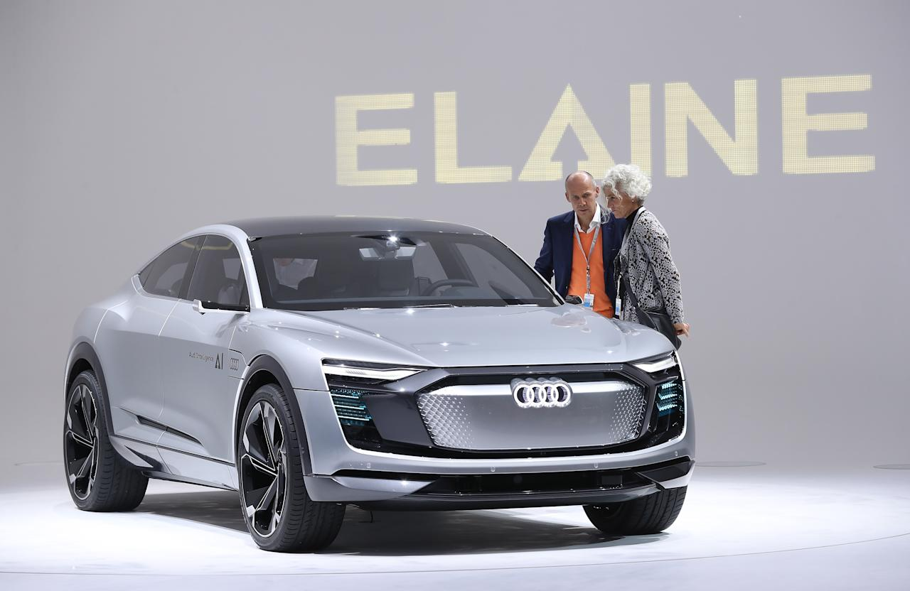 "<p><strong>Audi ElAIne</strong><br />After teasing its autonomous vehicle back in July, Audi unveiled its self-driving concept cars this week, one of which is the Audi ElAIne (AI — get it?). According to Audi, this electric-powered SUV would be capable of running errands for you while you're not in it; you'd park in a ""handover zone"" and leave the car, then it would drive to a parking garage that offers a car wash, a gas station, a charging post and a package station (presumably for picking up deliveries), all without you being present. Anticipated launch year: 2019. (Photo by Sean Gallup/Getty Images) </p>"