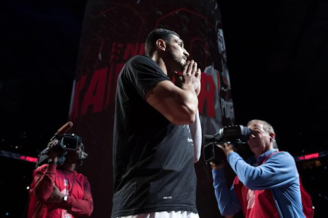 Basketball fans in Turkey won't be able to watch Kanter in the Western Conference Finals.
