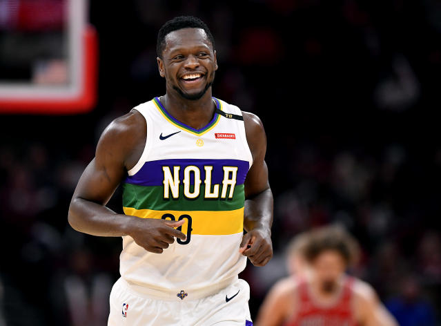 Julius Randle is coming off a low-key great year for the Pelicans. (Photo by Quinn Harris/Getty Images)