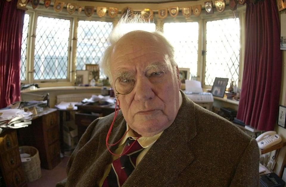 Astronomer Patrick Moore, who died in 2012, at home in Selsey (PA)