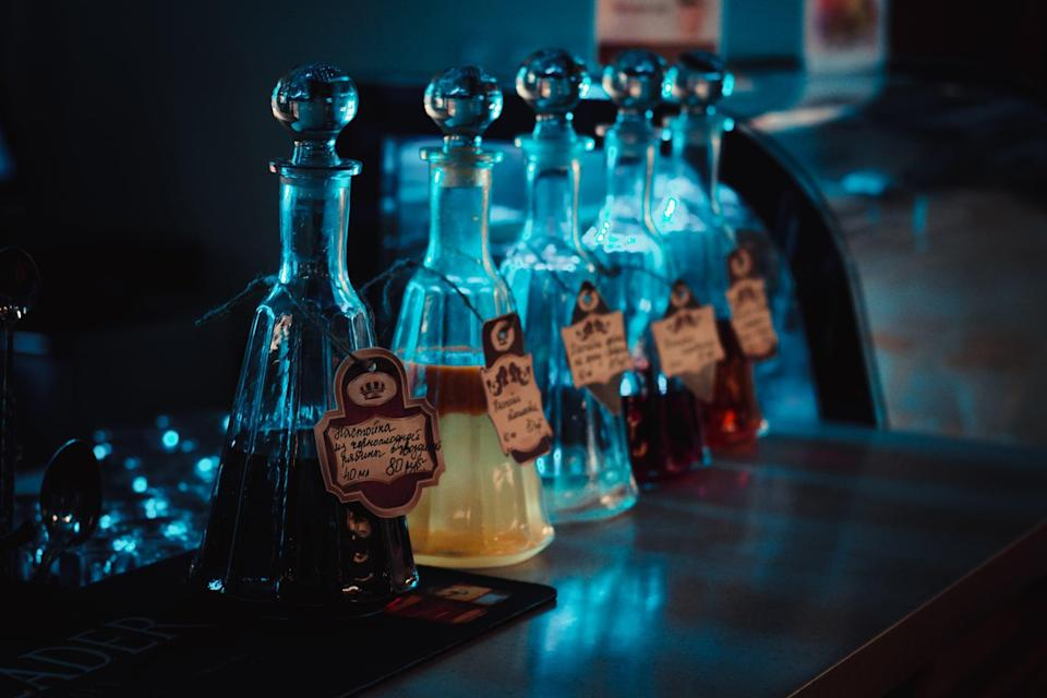 <p>Remember the good ol' game of Truth or Dare? Well, this is basically the adult version. Here, you will write down questions or dares on tags and attach one to each drink. Whether it's a cocktail, shot, beer, or mocktail, after each guest has enjoyed their beverage they must do what the tag says!</p> <p><strong>How to do it while social distancing:</strong> Start a Zoom call and tell each person on the line to make themselves an array of drinks. These can include cocktails, shots, ciders, and juices. Once those are made, go around from person to person and have them choose a drink. Once they drink it, pick a question or dare out of a hat, and make them do whatever it says. Bonus points for creativity!</p>
