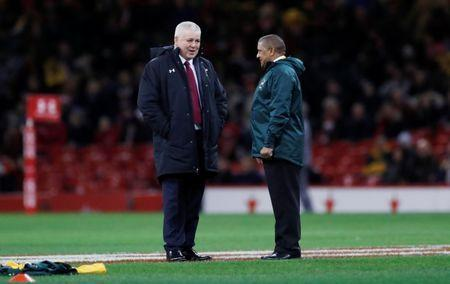 Rugby Union - Autumn Internationals - Wales vs South Africa - Principality Stadium, Cardiff, Britain - December 2, 2017 Wales head coach Warren Gatland and South Africa head coach Allister Coetzee before the match Action Images via Reuters/Andrew Boyers