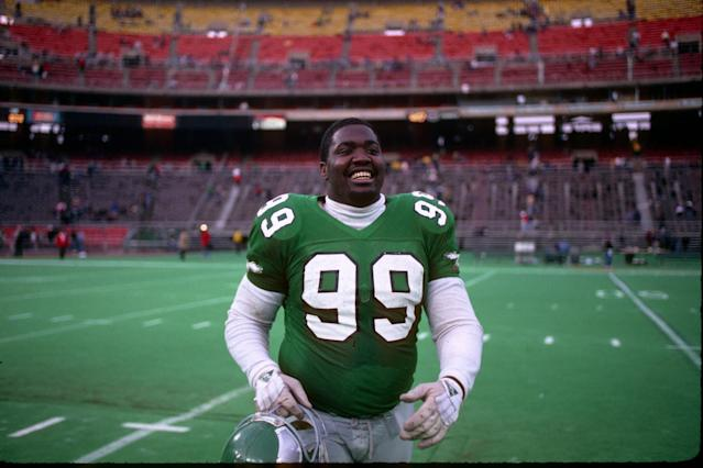<p>Cause of death: The Philadelphia Eagles defensive tackle and his 12-year-old nephew were killed when Brown lost control of his car on wet pavement and overturned. </p>
