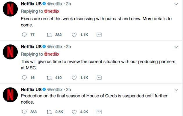 The news comes after it was confirmed the sixth season would be the last. Source: Twitter