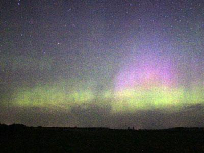 Massive solar flares are contributing to a spectacular light show in the skies above central Minnesota.  Time-lapse photography captures and aurora borealis display north of St. Cloud. (July 15)