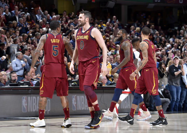 Kevin Love, J.R. Smith, George Hill and the rest of the Cavaliers have to give LeBron James a baseline of support for Cleveland to make its fourth straight NBA Finals. (Getty)