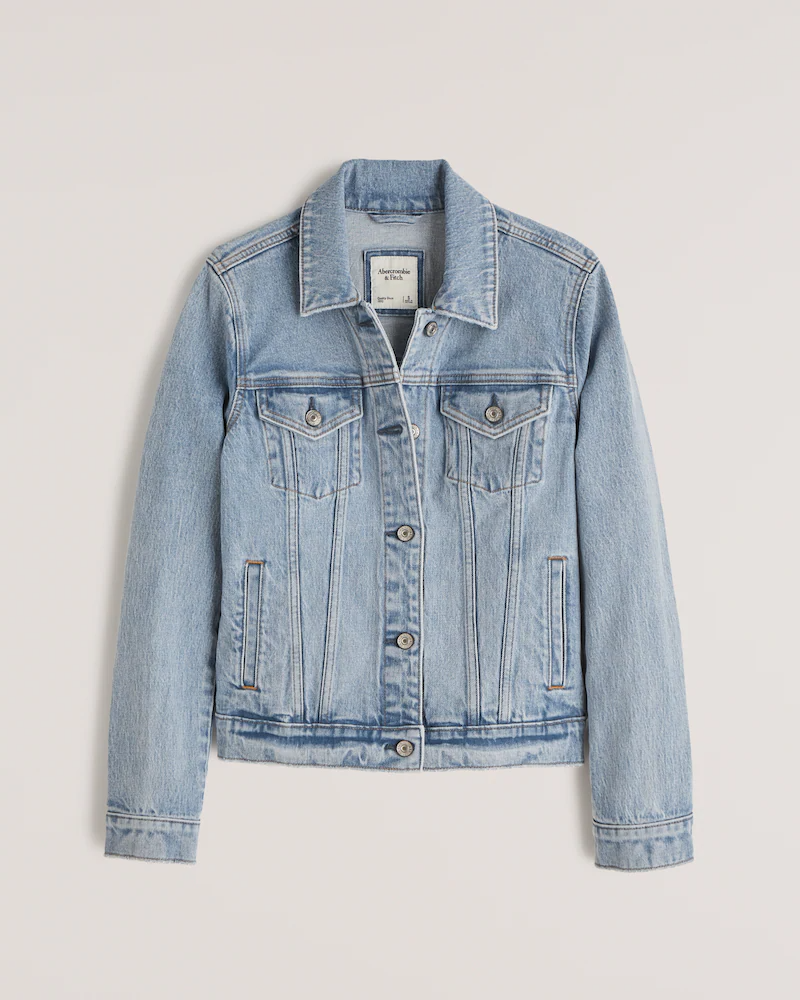 """<h2>Abercrombie & Fitch Denim Jacket</h2><br>""""Since I recently moved to Miami, fall is going to look different for me this year. I expect to the season to hover around denim jacket weather and not a degree chillier. This Abercrombie find is everything I could ask for in a light-medium layer: It's slightly cropped (which is perfect for petite gals like me) and has a boxy fit that isn't too bulky. Plus, at under $100? I might even pick up a few washes."""" <em>– Karina Hoshikawa, Beauty & Wellness Market Writer</em><br><br><em>Shop <a href=""""http://abercrombie.com"""" rel=""""nofollow noopener"""" target=""""_blank"""" data-ylk=""""slk:Abercrombie & Fitch"""" class=""""link rapid-noclick-resp"""">Abercrombie & Fitch</a></em><br><br><strong>Abercrombie and Fitch</strong> Denim Jacket, $, available at <a href=""""https://go.skimresources.com/?id=30283X879131&url=https%3A%2F%2Fwww.abercrombie.com%2Fshop%2Fus%2Fp%2Fdenim-jacket-42653319"""" rel=""""nofollow noopener"""" target=""""_blank"""" data-ylk=""""slk:Abercrombie and Fitch"""" class=""""link rapid-noclick-resp"""">Abercrombie and Fitch</a>"""