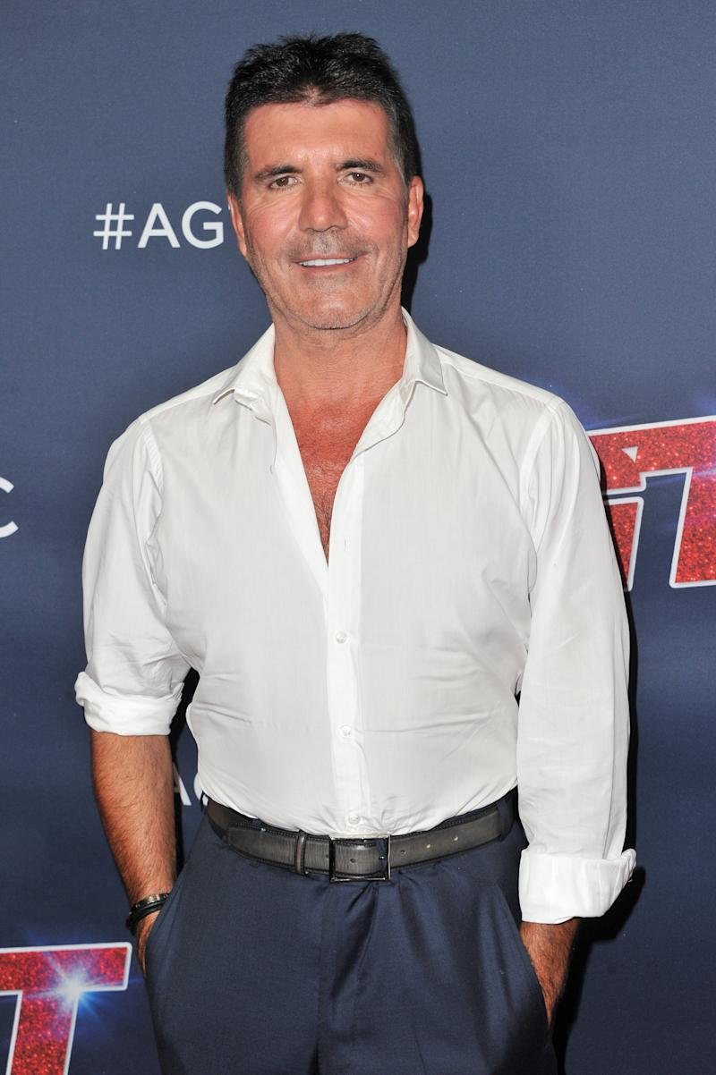 "Simon Cowell attends the ""America's Got Talent"" Season 14 Finale red carpet at Dolby Theatre on September 18, 2019 in Hollywood, California."