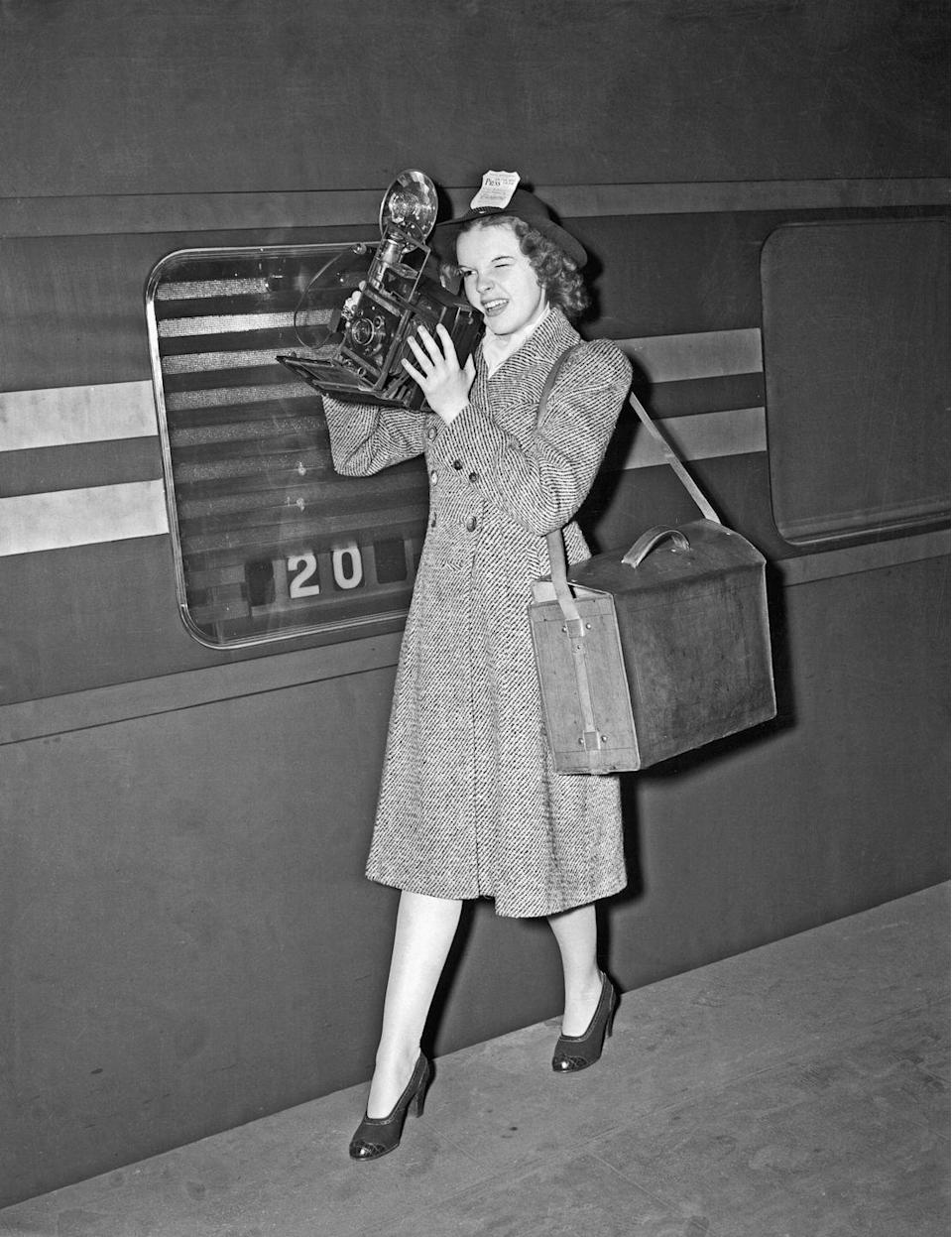 <p>Judy arrived at Grand Central Station to kick off her vacation after completing a film on the West Coast. </p>