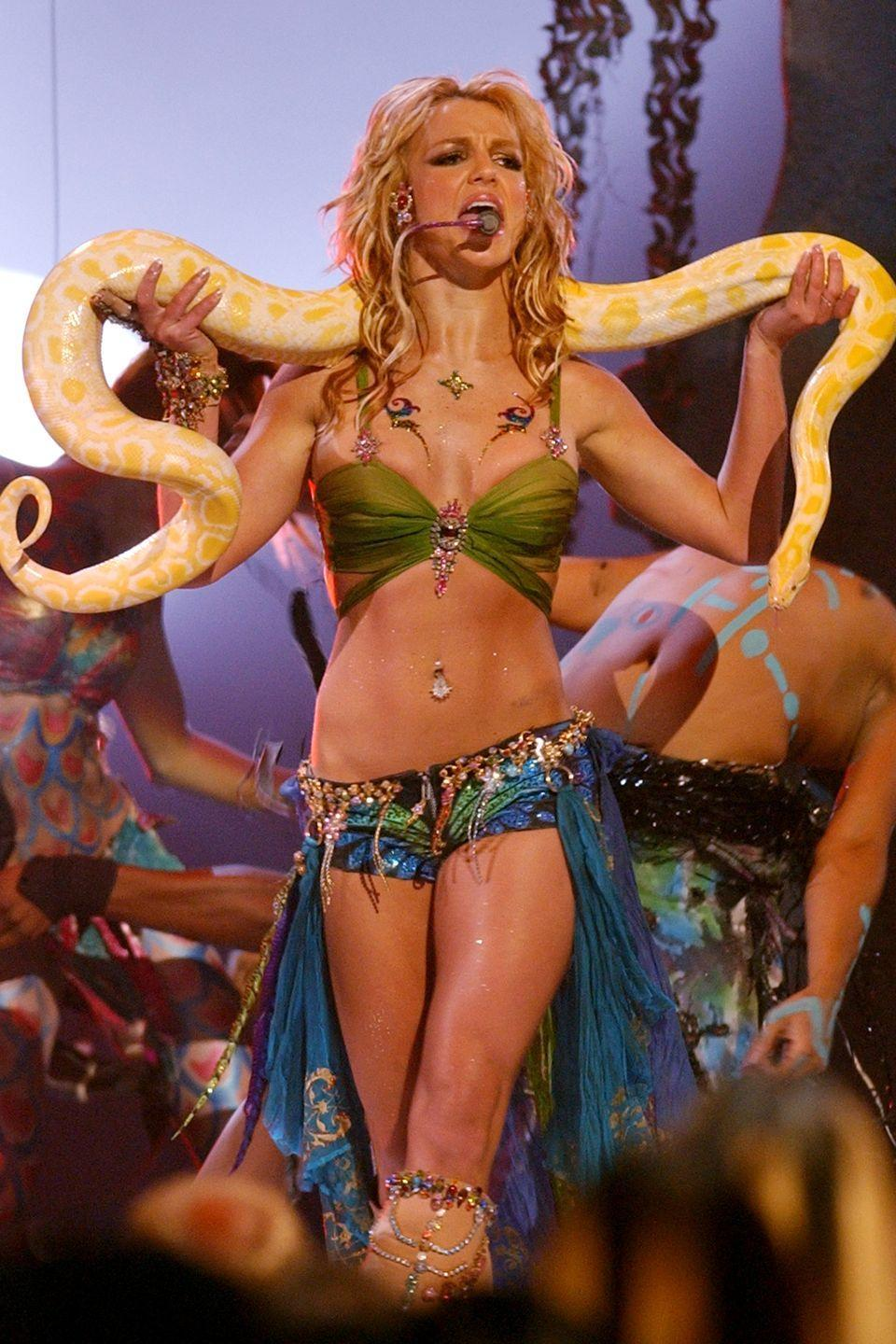 <p>The pop star never fails to slay in a belly-baring look, and has had a belly button ring since as far back as we can remember. From dangly jewels to simple studs, only Britney could make us love this accessory so much. </p>