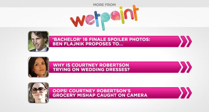 "<br><br><br><br><br><a target=""_blank"" href=""http://www.wetpaint.com/the-bachelor/gallery/bachelor-16-finale-spoiler-photos-ben-flajnik-proposes-to?utm_source=yahoo.com&utm_medium=syndication&utm_campaign=yahoo"">'Bachelor' 16 Finale Spoiler Photos<br></a><br><br><br><br><a target=""_blank"" href=""http://www.wetpaint.com/the-bachelor/gallery/spotted-bachelor-16s-courtney-robertson-trying-on-a-wedding-dress-photos?utm_source=yahoo.com&utm_medium=syndication&utm_campaign=yahoo"">Photos: Courtney Tries on Wedding Dresses</a><br><br><br><br><a target=""_blank"" href=""http://www.wetpaint.com/the-bachelor/gallery/courtney-robertsons-grocery-goof-caught-on-camera-photos?utm_source=yahoo.com&utm_medium=syndication&utm_campaign=yahoo"">Courtney's Grocery Mishap</a>"