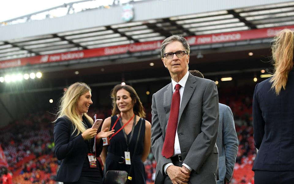 John W. Henry, owner of Liverpool ahead of the Premier League match between Liverpool FC and Norwich City at Anfield - Getty Images