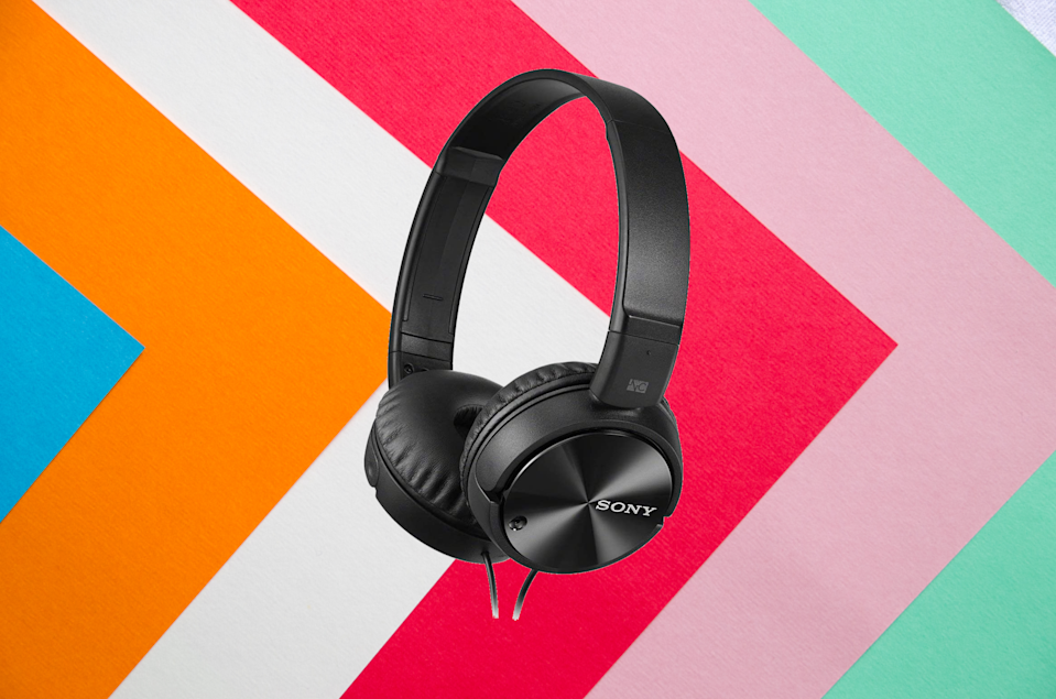 Save 45 percent on these Sony Noise-Canceling Headphones (Wired). (Photo: Amazon)
