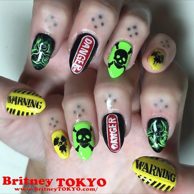 "<p>Take your caution tape to the next level with this hazardous chemical-themed nail art. It's got all the danger, warning, and all the toxic waste signs your fingers need. </p><p><a href=""https://www.instagram.com/p/BbH_H-XFuw4/?utm_source=ig_embed&utm_campaign=loading"" rel=""nofollow noopener"" target=""_blank"" data-ylk=""slk:See the original post on Instagram"" class=""link rapid-noclick-resp"">See the original post on Instagram</a></p>"
