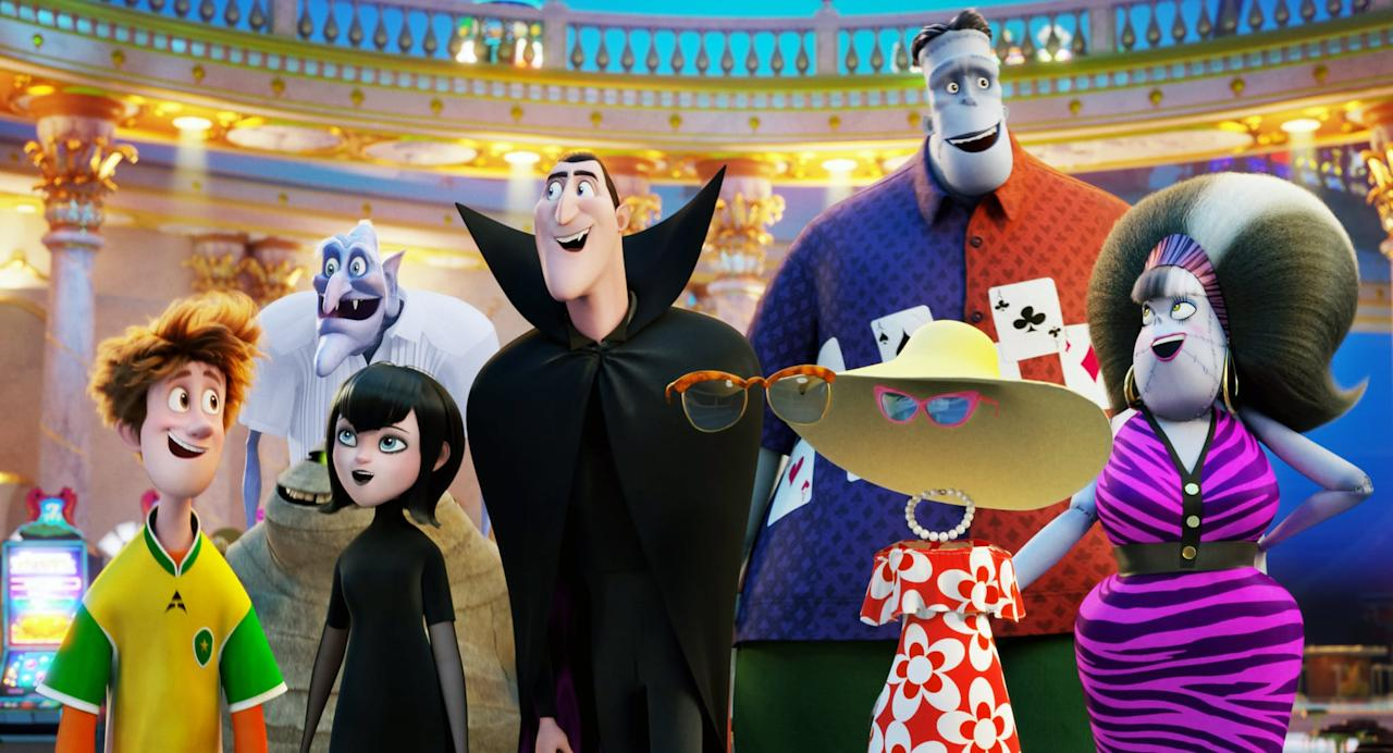 """<p><strong>Netflix description:</strong> """"It's love at first sight for Dracula when he meets Ericka, the charming but mysterious captain of the monster cruise that Mavis plans for the family.""""</p> <p><strong>Ages it's appropriate for:</strong> 7 and up</p>"""