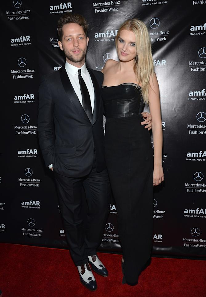 NEW YORK, NY - FEBRUARY 06:  Fashion writer Derek Blasberg and model Lily Donaldson attend the amfAR Gala after party in celebration of Mercedes-Benz Fashion Week at SL on February 6, 2013 in New York City.  (Photo by Mike Coppola/Getty Images for Mercedes-Benz Fashion Week)