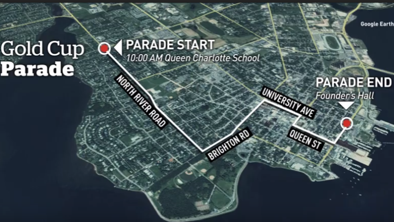 Here are Charlottetown's traffic restrictions for the Gold Cup Parade