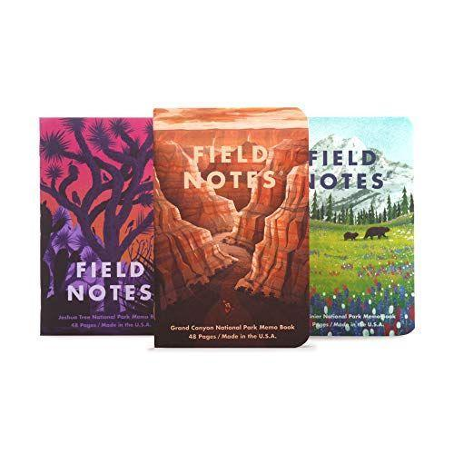 """<p><strong>Field Notes</strong></p><p>amazon.com</p><p><strong>$14.95</strong></p><p><a href=""""https://www.amazon.com/dp/B07V7WK445?tag=syn-yahoo-20&ascsubtag=%5Bartid%7C10060.g.24445809%5Bsrc%7Cyahoo-us"""" rel=""""nofollow noopener"""" target=""""_blank"""" data-ylk=""""slk:Shop Now"""" class=""""link rapid-noclick-resp"""">Shop Now</a></p><p>Outdoor adventurers will enjoy recording their experiences on their travels in these notebooks with illustrations of gorgeous views from National Parks. Plus, five percent of each purchase gives back to the National Park Service.</p>"""