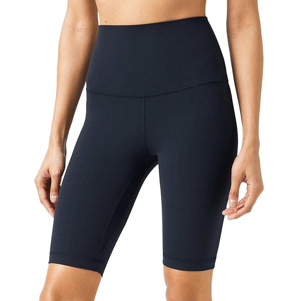 "<p><strong>Lululemon</strong></p><p>lululemon.com</p><p><strong>$58.00</strong></p><p><a href=""https://go.redirectingat.com?id=74968X1596630&url=https%3A%2F%2Fshop.lululemon.com%2Fp%2Falign-collection%2FAlign-SHR-Short-10%2F_%2Fprod9710083&sref=https%3A%2F%2Fwww.bestproducts.com%2Ffitness%2Fequipment%2Fg362%2Fhealth-and-fitness-gift-ideas%2F"" rel=""nofollow noopener"" target=""_blank"" data-ylk=""slk:Shop Now"" class=""link rapid-noclick-resp"">Shop Now</a></p><p>These trendy bike shorts feature a super-high-rise waist to keep everything tucked in no matter how you're contorting yourself during yoga practice. And the comfortable Nulu fabric feels like a second skin. </p>"