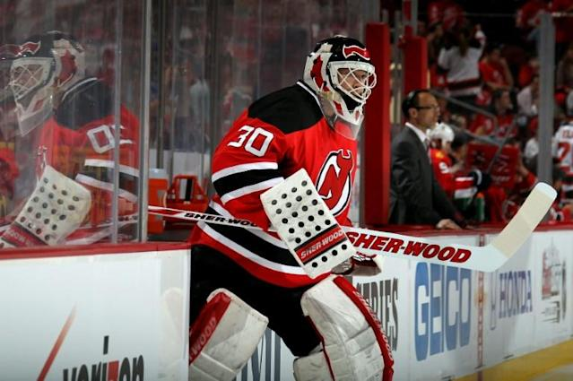 Former New Jersey Devils star goaltender Martin Brodeur will serve as a hockey operations adviser to his former NHL club after it fired general manager Ray Shero on Sunday (AFP Photo/BRUCE BENNETT)