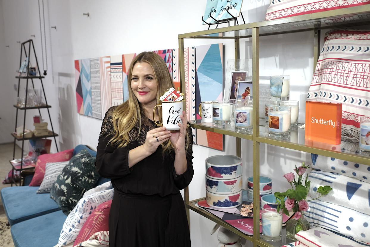 Drew Barrymore Launches Shutterfly Holiday Gift Collection at Seasonal Shopping Event