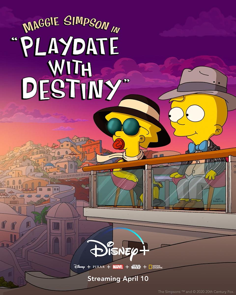 This Simpsons short played in front of <i>Onward</i> in American cinemas. (Disney+)