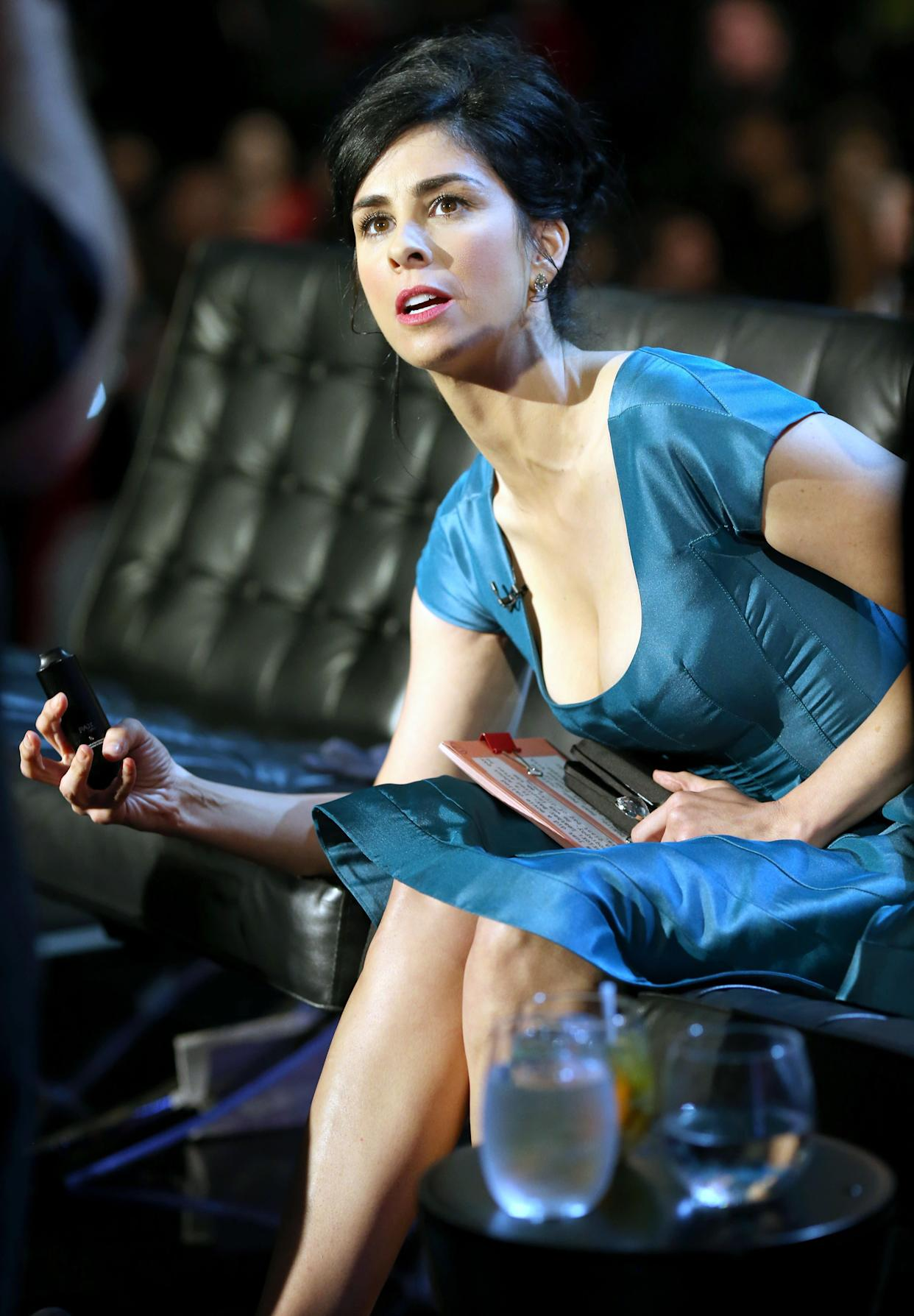 CULVER CITY, CA - AUGUST 25: Comedienne Sarah Silverman onstage during The Comedy Central Roast of James Franco at Culver Studios on August 25, 2013 in Culver City, California. The Comedy Central Roast Of James Franco will air on September 2 at 10:00 p.m. ET/PT. (Photo by Christopher Polk/Getty Images for Comedy Central)