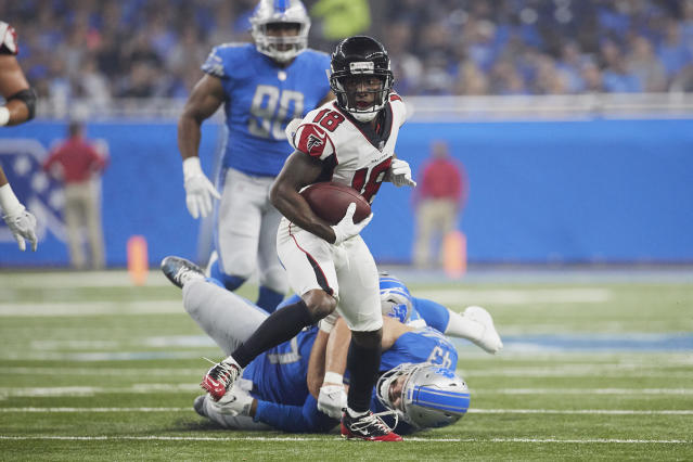 Taylor Gabriel should have a significant role in Week 6. (AP Photo/Rick Osentoski)