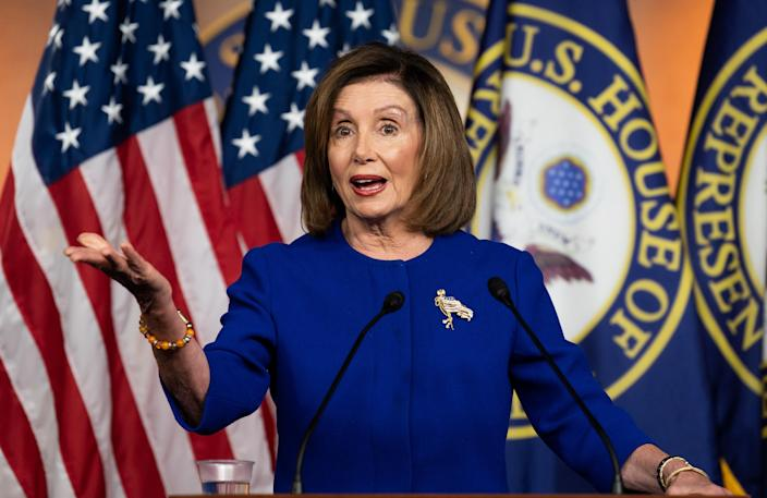 House Speaker Nancy Pelosi. (Photo: Michael Brochstein/Echoes Wire/Barcroft Media via Getty Images)