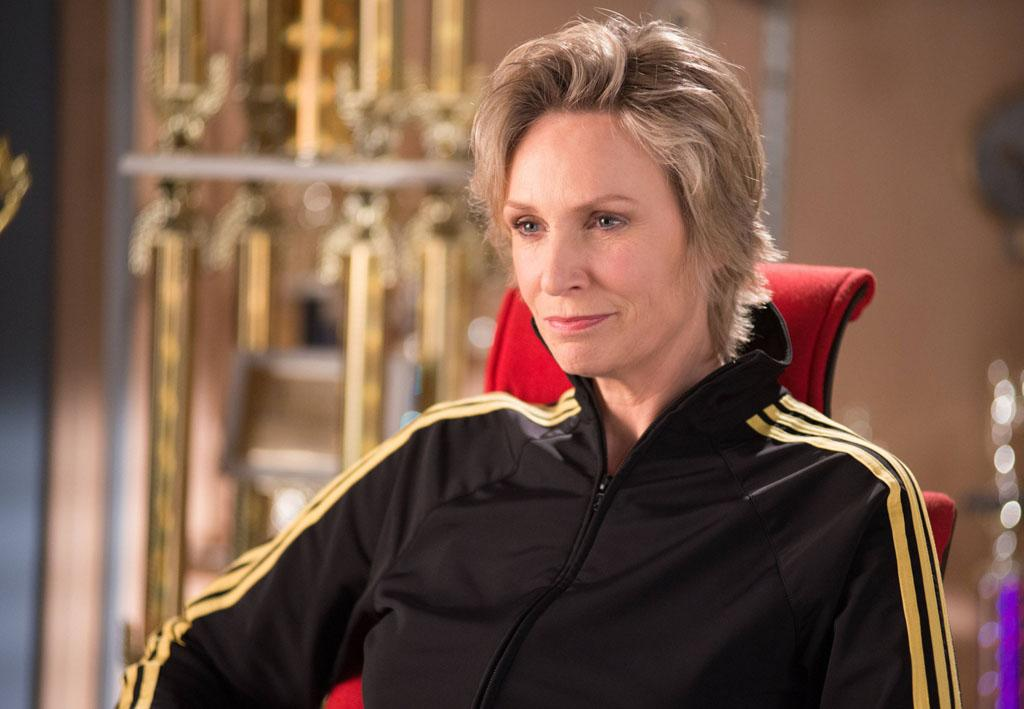 "Sue (Jane Lynch) offers her advice in the ""Diva"" episode of ""Glee."""