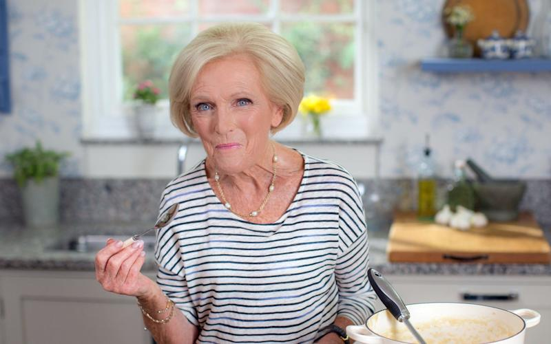 Mary Berry has a new BBC 2 series - WARNING: Use of this copyright image is subject to the terms of use of BBC Pictures' Digital Picture Service (BBC Pictures) as set out at www.bbcpictures.co.uk. In particular, this image may only be published by a registered User of BBC Pictures for editorial use for the purpose of publicising the relevant BBC programme, personnel or activity during the Publicity Period which ends three review weeks following the date of transmission and provided the BBC and the copyright holder in the caption are credited. For any other purpose whatsoever, including advertising and commercial, prior written approval from the copyright holder will be required.