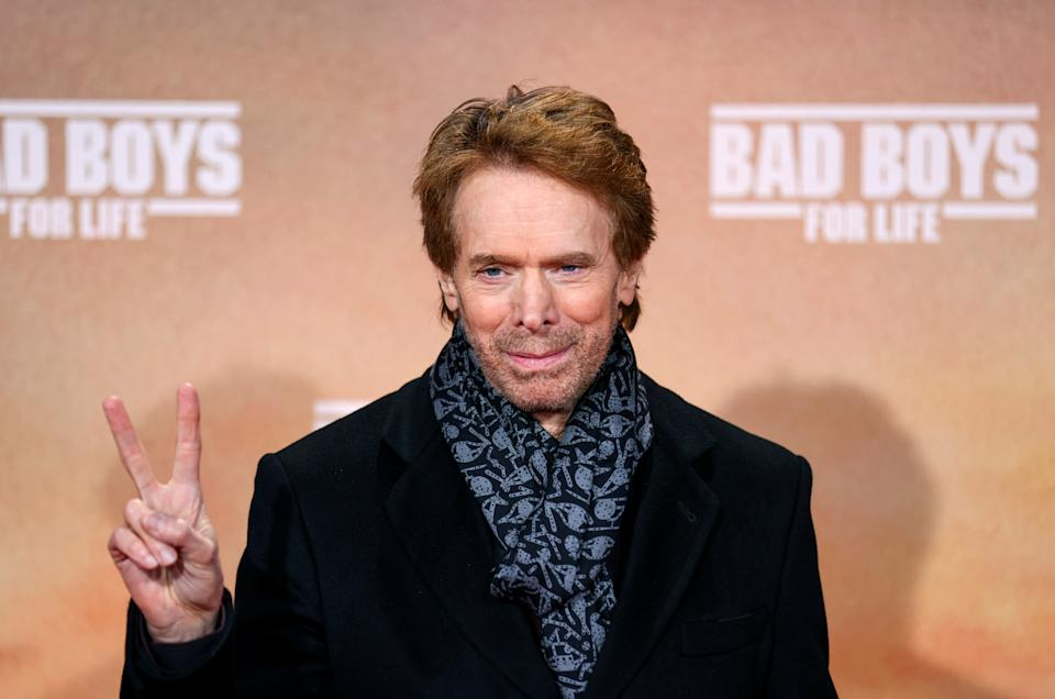 """Producer Jerry Bruckheimer poses at the red carpet of the German premiere for the film """"Bad Boys for Life"""" at the cinema Zoo Palast in Berlin, Germany, January 7, 2020. REUTERS/Hannibal Hanschke"""